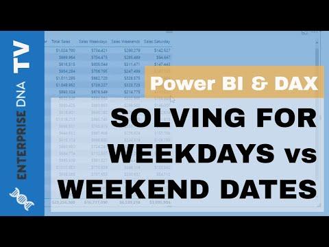 Handling Weekday vs Weekend Dates in Power BI using DAX