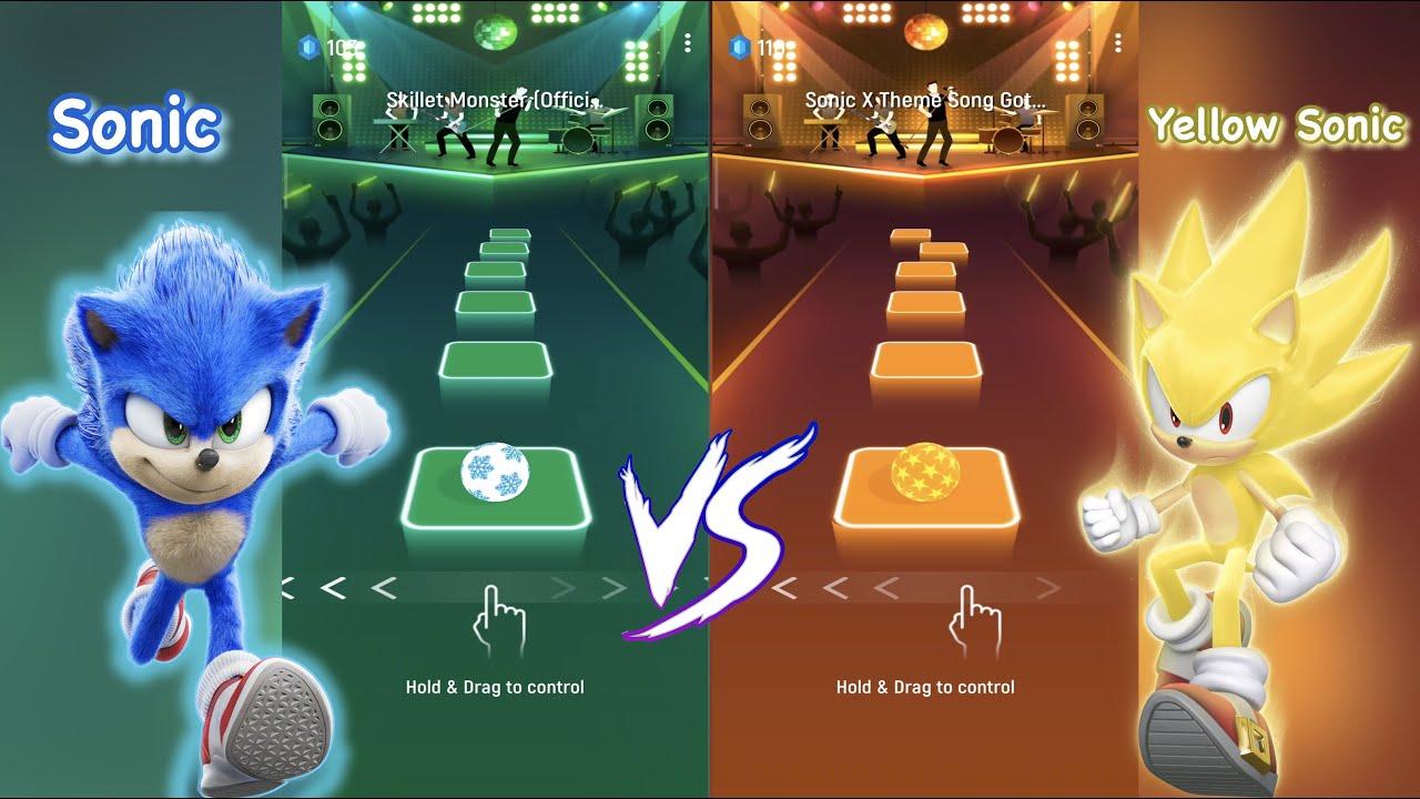 Download Sonic VS Super Sonic - Tiles hop