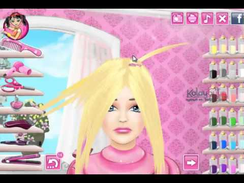 Beceri Oyunlar  Barbie Sa Kesimi  YouTube