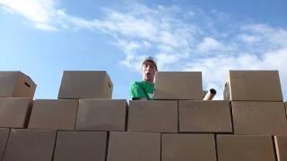 World's Largest Cardboard Box Castle @ Byu