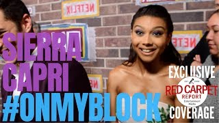 """Sierra Capri interviewed at Netflix's """"On My Block"""" S2 coming of age comedy event #OnMyBlock"""