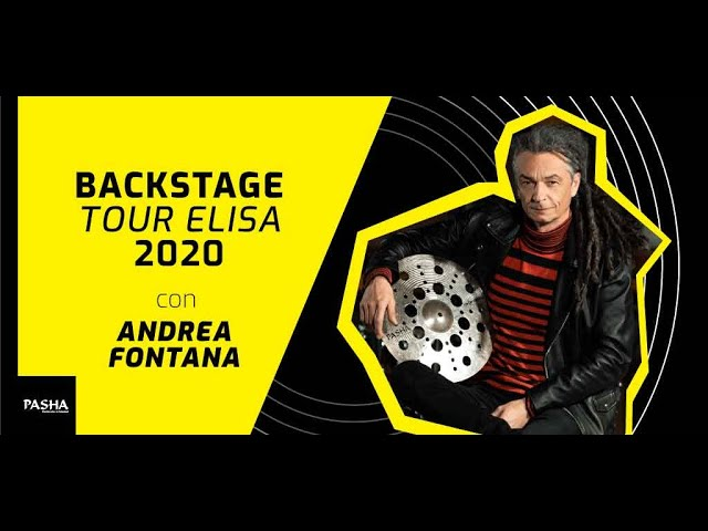 Andrea Fontana - Backstage Video Elisa Toffoli Tour 2020 | Pasha Cymbals