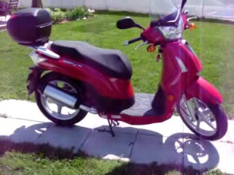 scooter kymco people 50 s 4t 2007 youtube. Black Bedroom Furniture Sets. Home Design Ideas
