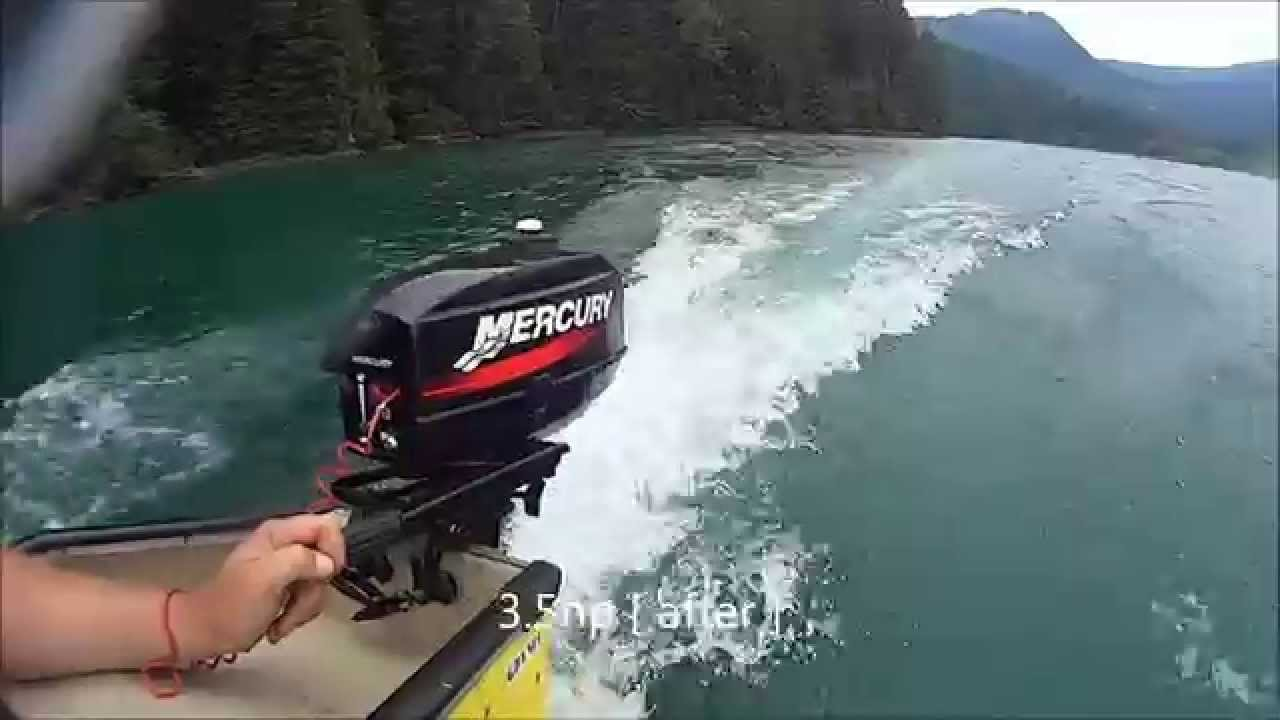 How to increase horsepower on a Mercury 2 5hp 2 stroke outboard motor