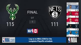 Bucks @ Nets ECSF Game 7 | NBA Playoffs on TNT Live Scoreboard