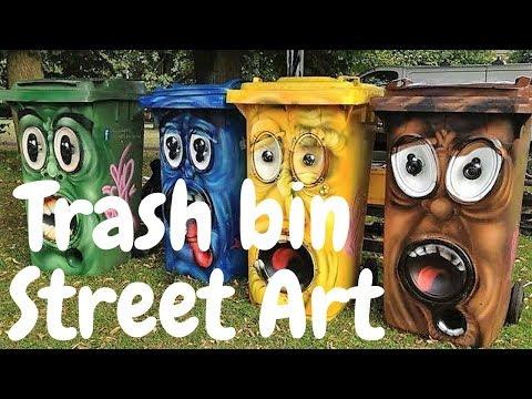 Over 100 Most Amazing Trash bin Garbage Can Global Street Art