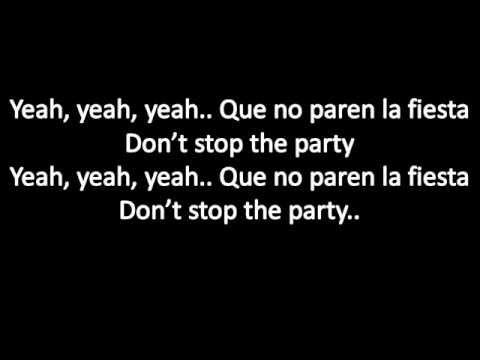 Pitbull ft TJR don't stop the party lyrics
