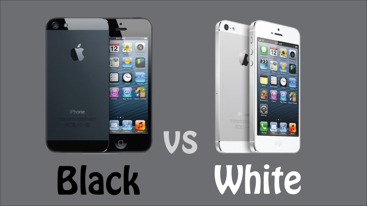 Black IPhone 5 Vs White
