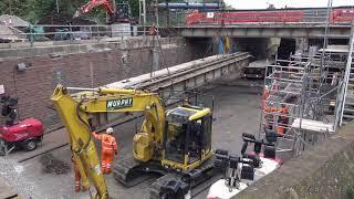 Removing the second Church road Rail bridge
