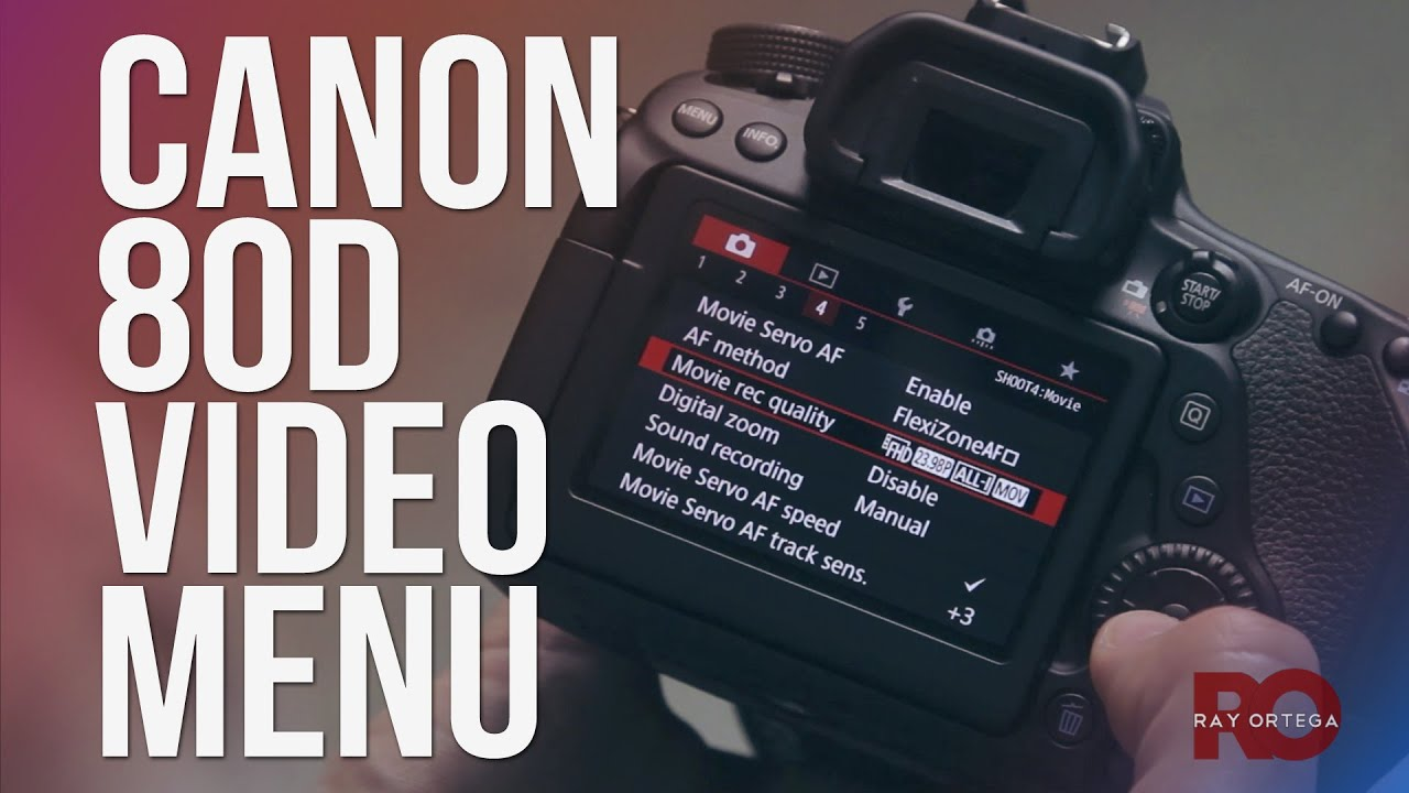How to setup the Canon 80D menu for shooting video