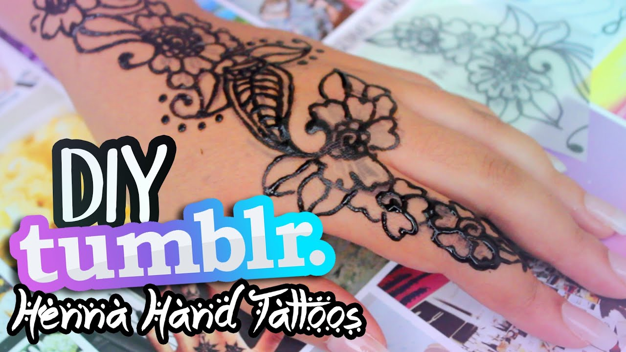 diy tumblr inspired henna hand tattoos youtube. Black Bedroom Furniture Sets. Home Design Ideas