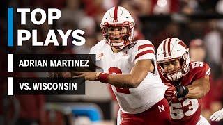 Top Plays: Adrian Martinez vs. Wisconsin Badgers Big Ten Football