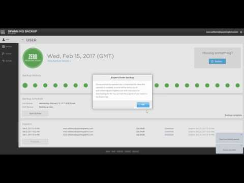 Spanning Backup for G Suite Demo: Full Account Export for End Users