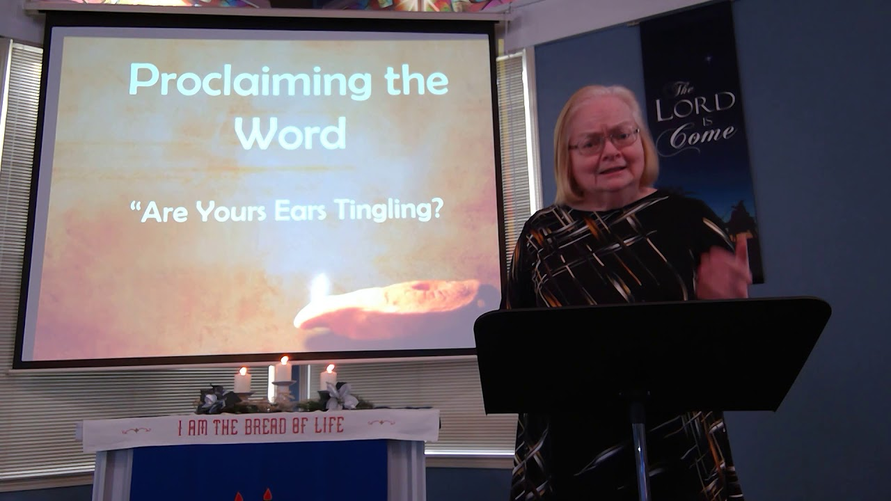 """January 17, 2021 ~ Rev. Julia Price ~ """"Are Your Ears Tingling?"""""""