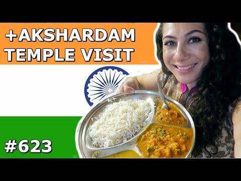 INDIAN THALI | AKSHARDAM TEMPLE VISIT | DELHI DAY 623 | TRAVEL VLOG IV