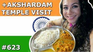 INDIAN THALI | AKSHARDAM TEMPLE VISIT | DELHI DAY 623 | TRAVEL VLOG IV