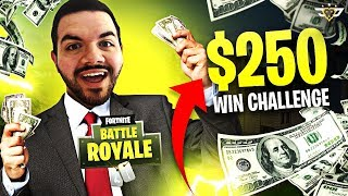 $250 IF WE WIN THIS BET! GONE WRONG!  (Fortnite: Battle Royale)