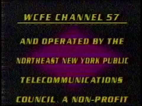 WCFE Channel 57 (Mountain Lake PBS) partial sign off 1989