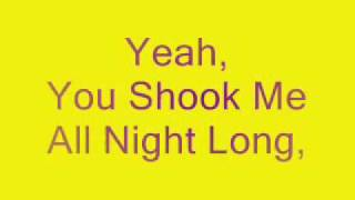 You Shook Me All Night Long (AC/DC) -Lesson And Lyrics