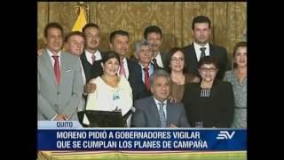 23 gobernadores, posesionados por el presidente Lenín Moreno