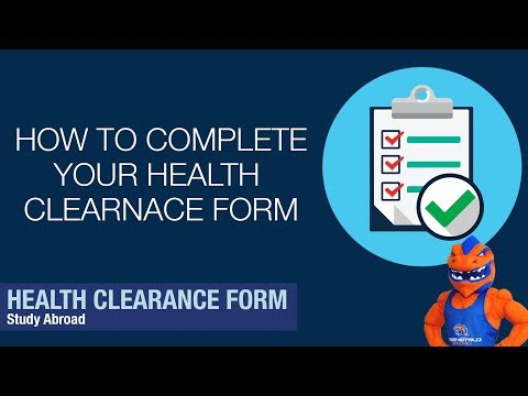 Clayton State University - Study Abroad Health Clearance Form