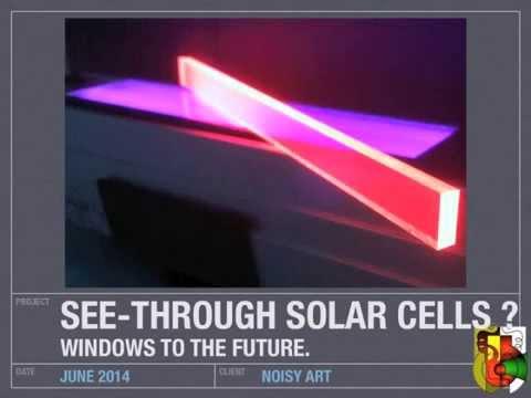 See through solar panels