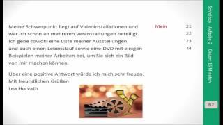 Prüfungsvorbereitung Goethe Zertifikat B2 Schreiben