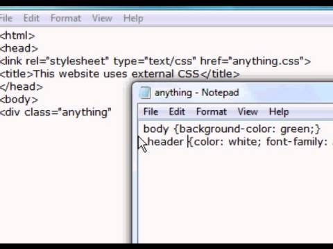 CSS Website Design Tutorial - External Style Sheets