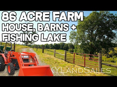 Home and Land for Sale Kentucky 86 acre Farm with fishing la