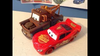 Disney Cars McQueen and Mater with no Tires Review