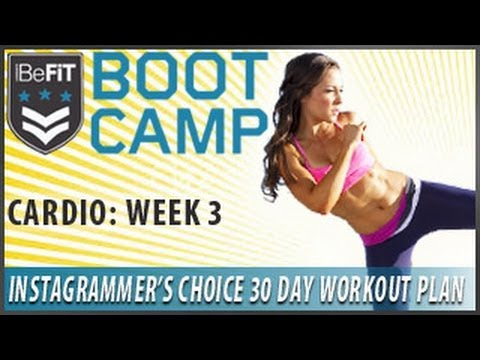 30 Day Workout Plan: Cardio Week 3- Instagrammer's Choice