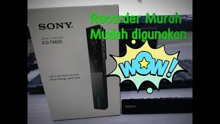 Unboxing n review SONY ICD TX650 stereo Recorder