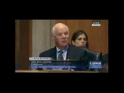 Senator Cardin Discusses US-Russia Relations at Foreign Relations Committee Hearing
