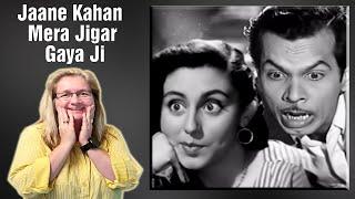 Jaane Kahan Mera Jigar Gaya Ji - Johnny Walker, Mohammed Rafi, Mr. and Mrs. 55 Song (Duet) REACTION!