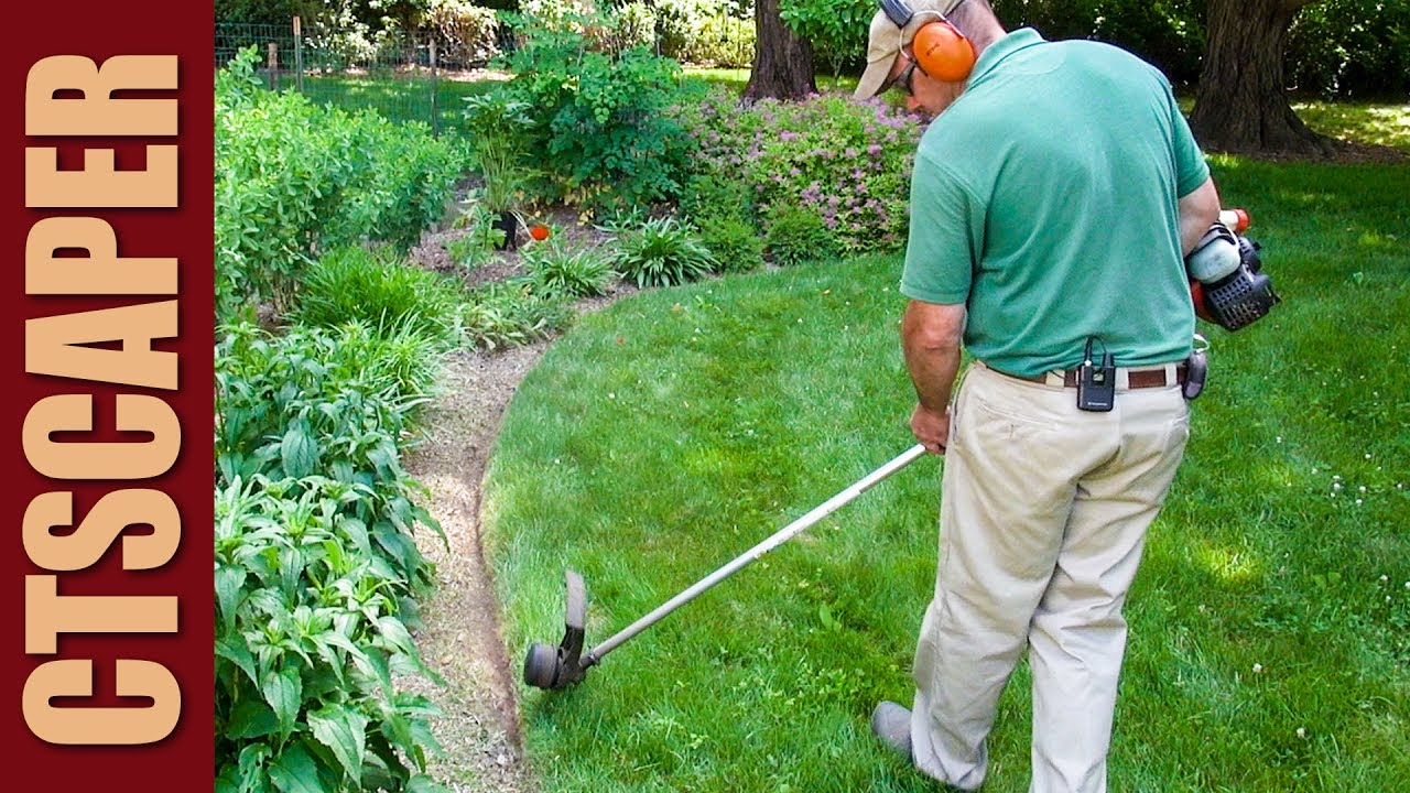 EDGING GARDENS With WEEDWACKER | STRING TRIMMER