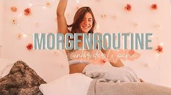 MEINE MORGENROUTINE UNTER DER WOCHE | LERNEN |MORNING STRETCHING & GESUNDE BOWL | GOOD VIBES