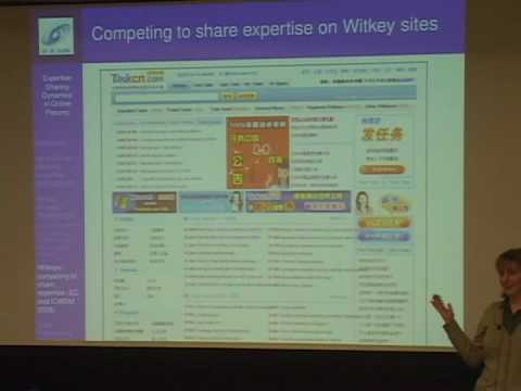 Lada Adamic: Expertise Sharing Dynamics in Online Forums