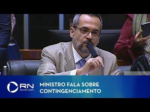 Ministro da Educação diz que governo atual não é responsável por contingenciamento