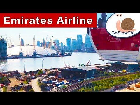 Emirates Airline | London | Cable Car | Landmarks | Tourist | Slow TV | Episode 13 (2018)