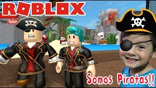 Pirates in Roblox ESCAPE THE TREASURE ISLAND ? Roblox games for kids