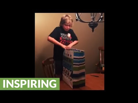 Tearful Kid Literally Speechless For PS4 Birthday Gift