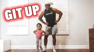 GIT UP DANCE CHALLENGE - DADDY DAUGHTER - BLANCO BROWN  * cutest video ever * Video