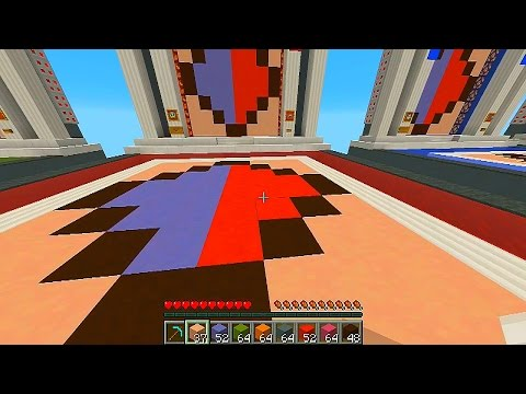 Minecraft 1.8 REPLICA with Vikkstar, Preston, Rob & Kenny (Minecraft Mini Game)