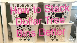 QUICK & EASY DIY Hack to Make DOLLAR TREE Bins Stack Better