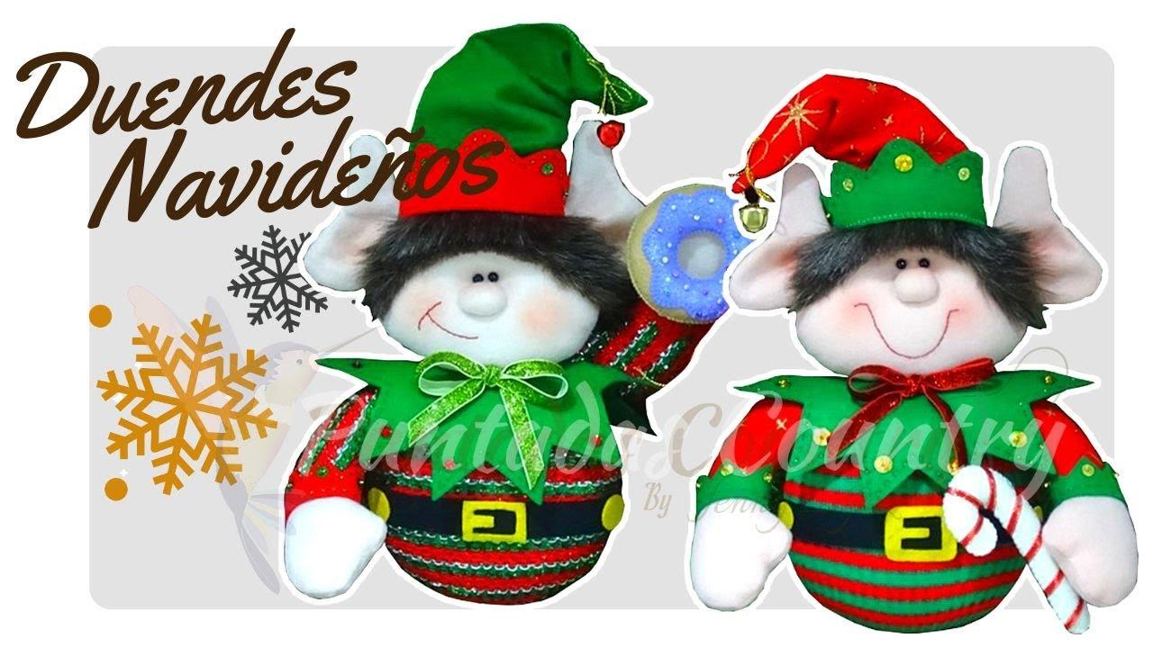Duende navide o con moldes gratuitos mu equer a navide a - Manualidades con fieltro para navidad ...