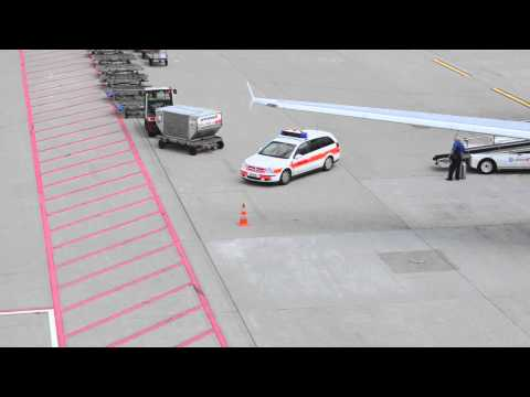 Zurich Airport Police Responding to Arriving Swiss A320 at Gate