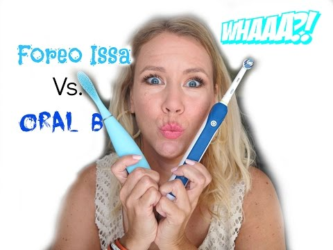 Foreo Issa vs. Oral B Electric Toothbrush | BEAUTY OVER 40