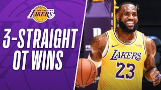 BEST MOMENTS From The <b>Lakers</b> Last 3 OT Wins!