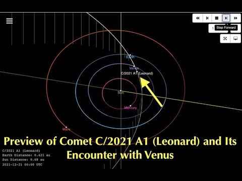 Massive Comet on Trajectory Course Towards Venus, C/2021 A1 (Leonard) Ra Castaldo Remote Views It