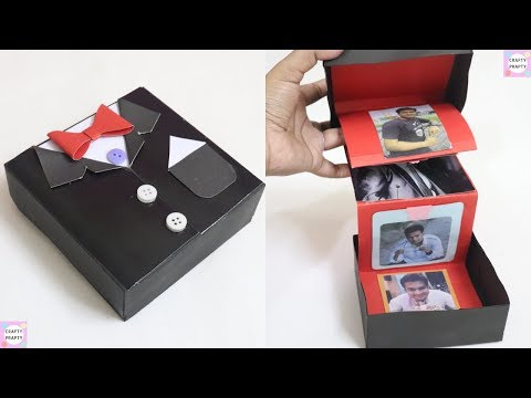 DIY Accordion Photo Card / DIY - Pull Out Photo Box | Suite Tuxedo card box / Suite box card